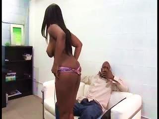Curvy Slut Dances For Him And Sucks Cock